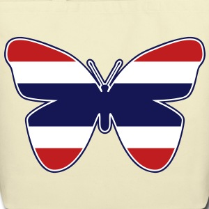 Thai Butterfly Flag Silhouette - Eco-Friendly Cotton Tote