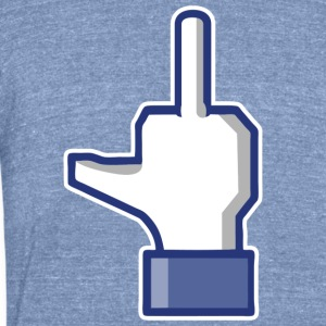 fuck facebook T-Shirts - Unisex Tri-Blend T-Shirt by American Apparel