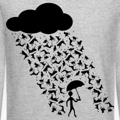 raining cats and dogs Long Sleeve Shirts