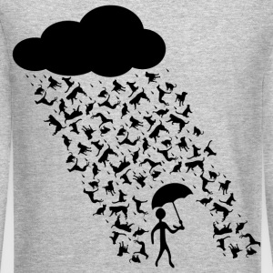 raining cats and dogs Long Sleeve Shirts - Crewneck Sweatshirt