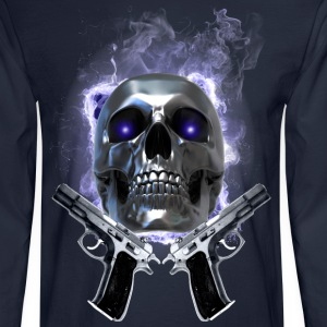 Ownage: Skull and Guns - Men's Long Sleeve T-Shirt
