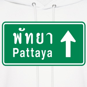 Pattaya, Thailand / Highway Road Traffic Sign - Men's Hoodie