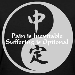 Yin Yang – Pain is Inevitable - Women's T-Shirt