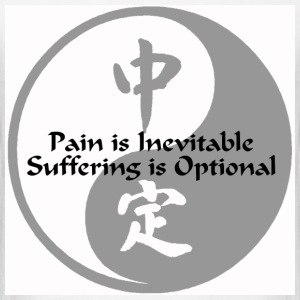 Yin Yang – Pain is Inevitable - Men's T-Shirt