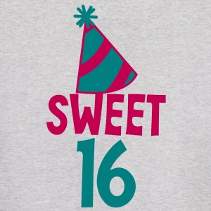 BIRTHDAY 16 SWEET SIXTEEN with a party hat Hoodies - Men's Hoodie