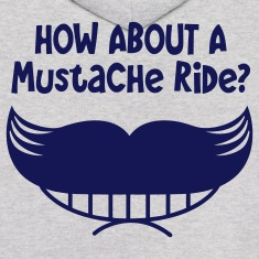 how about a mustache ride? smile mouth and mo Hoodies