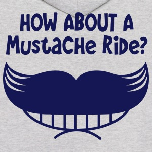 how about a mustache ride? smile mouth and mo Hoodies - Men's Hoodie