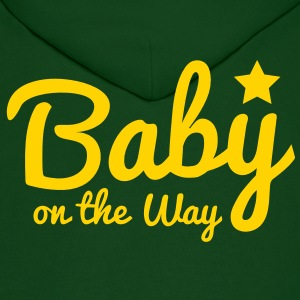 baby on the way with a cute star Hoodies - Men's Hoodie