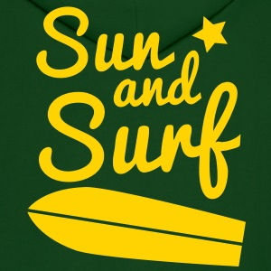sun and surf with surfboard good for holidays! Hoodies - Men's Hoodie