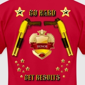 Go Hard Get Results - Men's T-Shirt by American Apparel