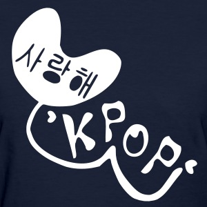 Love KPOP in Korean language Women's Standard Weight T-Shirt - Women's T-Shirt