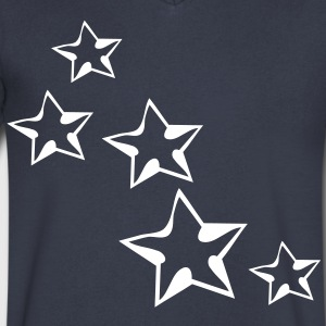 Cool stars Men's V-Neck T-Shirt by Canvas - Men's V-Neck T-Shirt by Canvas