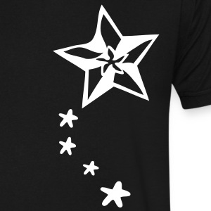 Cool  shooting stars Men's V-Neck T-Shirt by Canvas - Men's V-Neck T-Shirt by Canvas