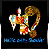 Design ~ Men's MUSIC ON MY SHOULDER T-Shirley for Charity