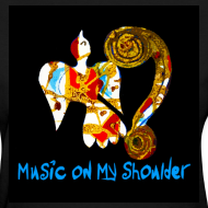 Design ~ Women's MUSIC ON MY SHOULDER T-Shirley for Charity