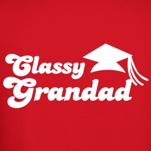 CLASSY GRANDAD with mortar board graduation Long Sleeve Shirts - Crewneck Sweatshirt