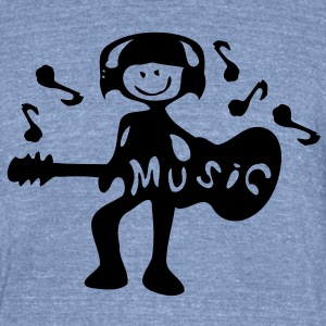 music guitarist Men's Tri-Blend Vintage T-Shirt by American Apparel - Unisex Tri-Blend T-Shirt by American Apparel