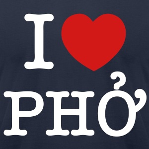 I Heart (Love) Pho T-Shirts - Men's T-Shirt by American Apparel
