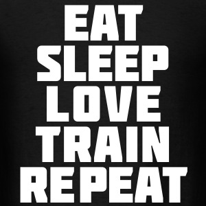 Eat Sleep Gym Motivation T-Shirts - Men's T-Shirt