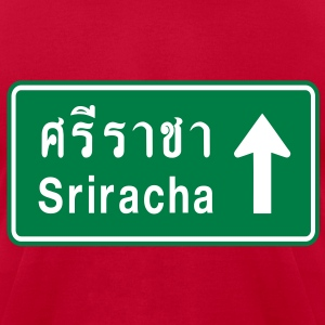 Sriracha, Thailand / Highway Road Traffic Sign - Men's T-Shirt by American Apparel