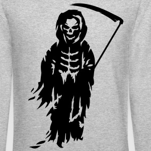 A Grim Reaper - Death with a scythe Long Sleeve Shirts - Crewneck Sweatshirt