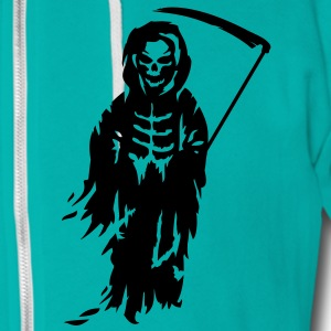 A Grim Reaper - Death with a scythe Zip Hoodies/Jackets - Unisex Fleece Zip Hoodie by American Apparel