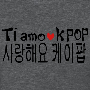 Love KPOP in Korean & Italian language Women's Standard Weight T-Shirt - Women's T-Shirt