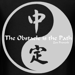Yin Yang – The Obstacle  - Men's T-Shirt