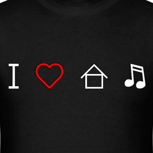I Love House Music T-Shirts - Men's T-Shirt