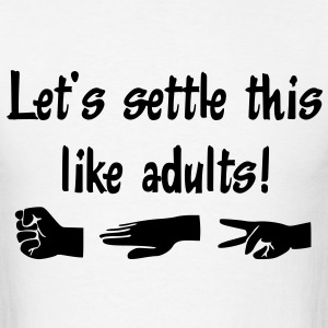 Let's settle this like adults! Rock-paper-scissors T-Shirts - Men's T-Shirt