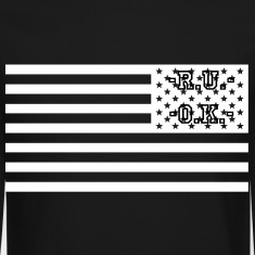 american flag BLVCK XVV BLVCK Long Sleeve Shirts