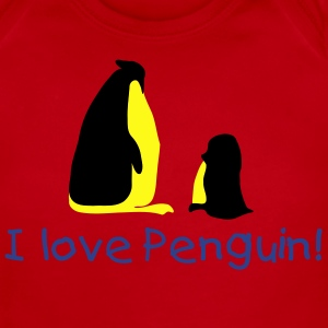 I love penguin Baby Short Sleeve One Piece - Baby Short Sleeve One Piece