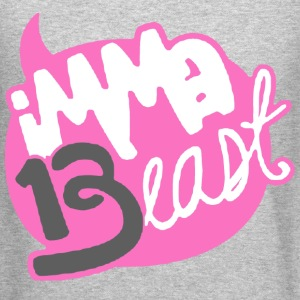 Class of 13 - imma Beast (Pink) Long Sleeve Shirts - Crewneck Sweatshirt