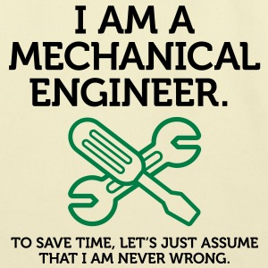 I Am A Mechanical Engineer 2 (2c)++ Bags  - Eco-Friendly Cotton Tote