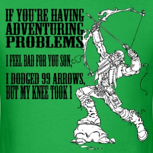 Arrow to the knee - HD Design T-Shirts - Men's T-Shirt