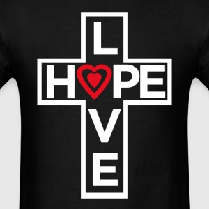 Love Hope Cross - Men's T-Shirt