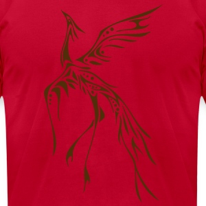Crane / Phoenix Tribal Tattoo T-Shirts - Men's T-Shirt by American Apparel