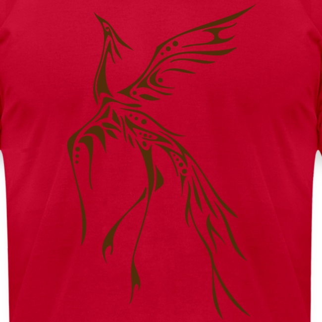 Crane/Phoenix Tribal Tattoo (Brown) Men's American Apparel T-Shirt