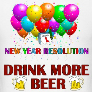 resolution drink more beer - Men's T-Shirt