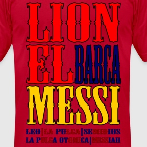 Lionel Messi - Men's T-Shirt by American Apparel