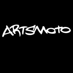 """Artsmoto Logo """"Splatter"""" Black Outline /White Fill"""
