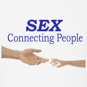 sex connecting people - Men's T-Shirt