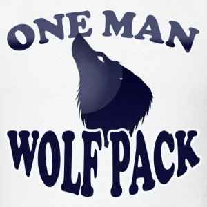 one man wolf pack - Men's T-Shirt