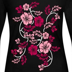 hawaii flower Long Sleeve Shirts - Women's Long Sleeve Jersey T-Shirt