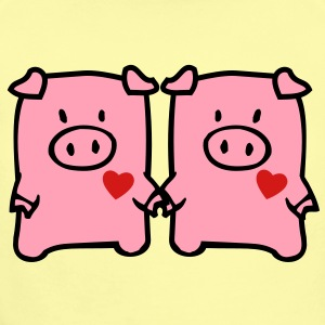 two cute pigs Baby Bodysuits - Short Sleeve Baby Bodysuit