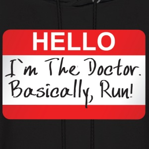 Doctor Who - Hello I'm The Doctor Hoodies - Men's Hoodie