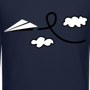 Paper Airplane Long Sleeve Shirts - Crewneck Sweatshirt