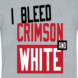 Bleed Crimson tri-blend. - Unisex Tri-Blend T-Shirt by American Apparel
