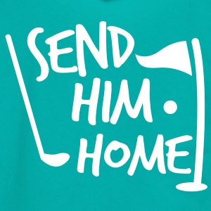 send him home golf humor design Zip Hoodies/Jackets - Unisex Fleece Zip Hoodie by American Apparel
