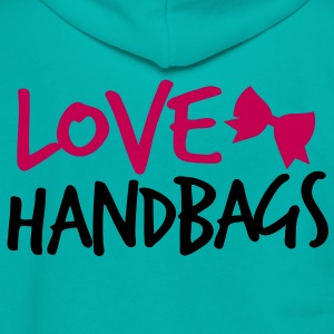 LOVE HANDBAGS bow  Zip Hoodies/Jackets - Unisex Fleece Zip Hoodie by American Apparel